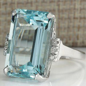 Baby Blue Dinner ring Size 10